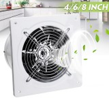 220V 25W 2800r/min 4inch Exhaust Fan Wall Mounted Blower Bathroom Kitchen Air Vent Ventilation Extractor