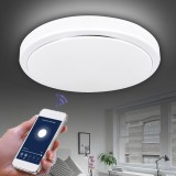 48W CW+WW FYxd005-002 WIFI Smart Ceiling Light AC85-265V Timer Dimmable APP Control Ceiling Lamp Fcmila Bedroom Works with Alexa Google Home IFTTT