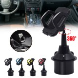 Universal 360 Rotation Car Phone Mount Gooseneck Cup Holder for 5-9.5cm Width Cell Phone for iPhone 12 Poco X3 NFC