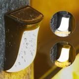 Warm/White Light LED Solar Stair Light Garden Outdoor Landscape Stake Path Lamp