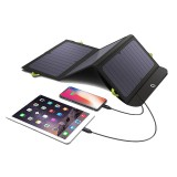 ALLPOWERS 5V 15W Solar Charger with 10000mAh Battery 3 USB Ports PD 18W Fast Charge SunPower Solar Panel Power Bank For Outdoor Camping