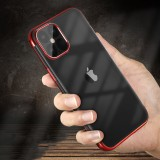 Bakeey Plating Ultra-thin Transparent Non-Yellow Shockproof Soft TPU Protective Case for iPhone 12 Pro Max