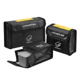 Lipo Battery Explosion-Proof Safety Protective Storage Bag Black 1/2/3 Pack for DJI Mavic AIR 2 RC Drone