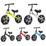 12Inch No Pedal Free Toddle Balance Bike Baby Sliding Bike Kids Bike Metal Scooter Baby Walker Ride on Toys for 2-6 Years Old Games
