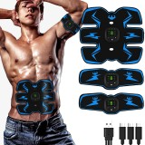EMS Wireless Digital Display Abdominal Arm Muscle Stimulator Smart Electric Six-pack Abs Trainer Fitness Hips Trainer