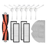 14pcs Replacements for Mijia 1C Dreame F9 D9 Vacuum Cleaner Parts Accessories Main Brush*1 Side Brushes*6 HEPA Filters*4 Mop Clothes*3