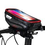 WILD MAN Bicycle Handlebar Bag Touch Screen Phone Package Rainproof Front Tube Bag MTB Road Bike Accessories