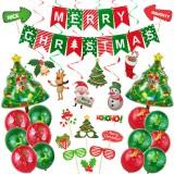 53Pcs Christmas Decorations Set Santa Claus Snowman Bells Tree Decorations Photo Props Christmas Party Supplies