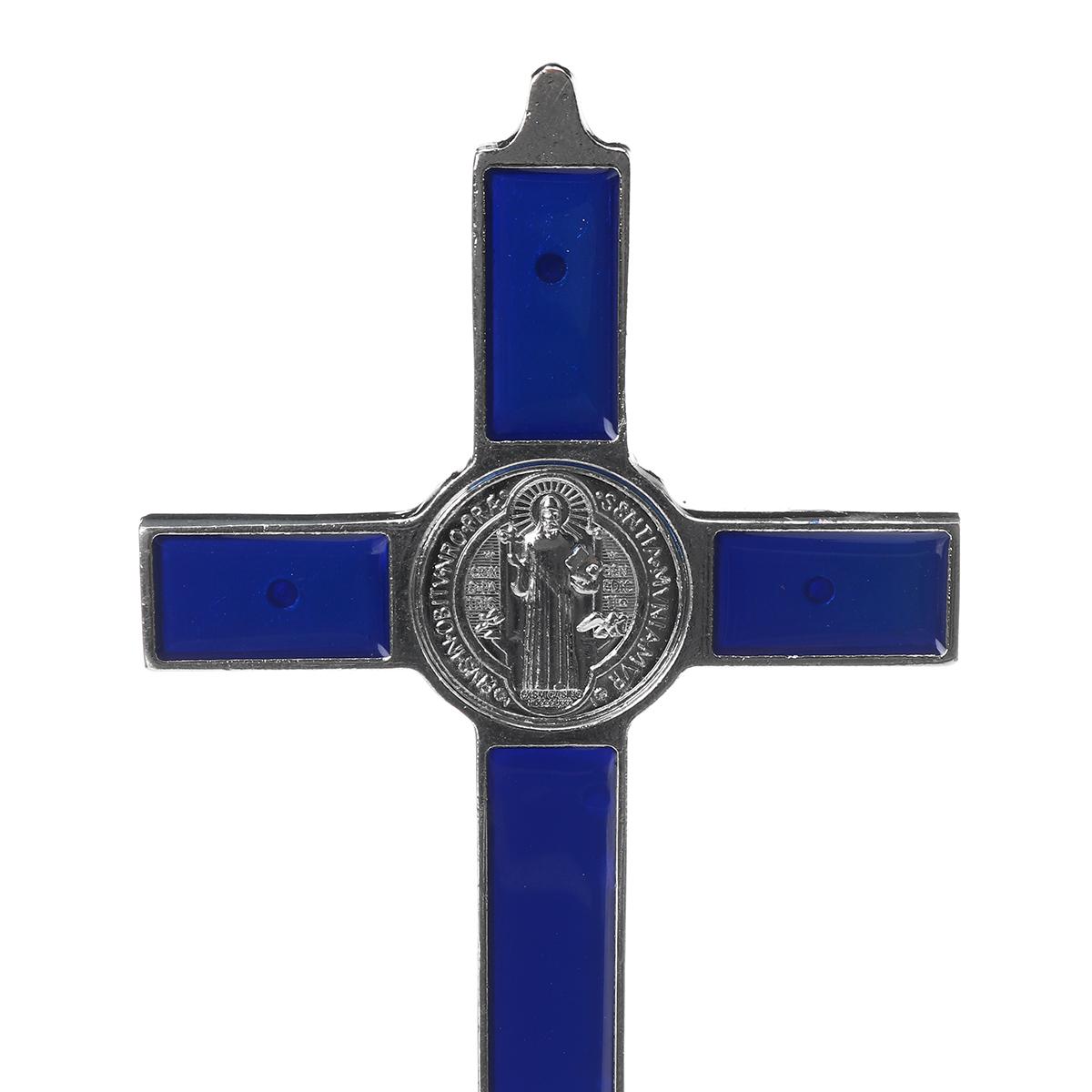 Antique Crucifix Wall Cross Jesus Christ INRI Wall Decor Catholic Cross Ornament