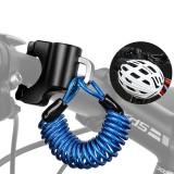 WEST BIKING Mini Bike Helmet Lock Anti-Theft Alloy Cable Lock For Helmet Bag Motorcycle MTB Bicycle Accessories With Two Keys