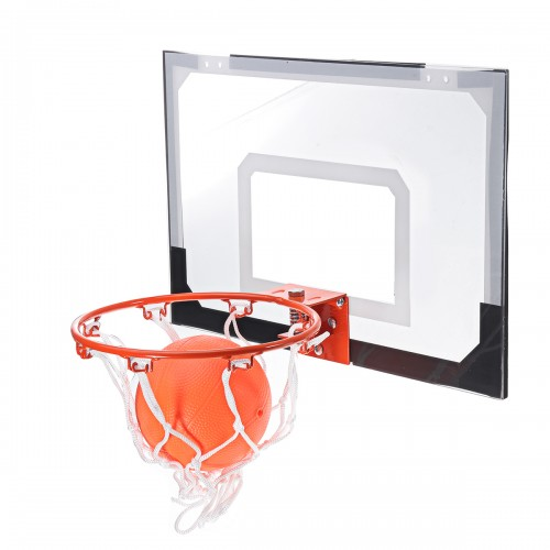 Adult Indoor Mini Basketball Hoop Backboard System Home Office Room Door Mount With Ball & Pump Sport Exercise Tools