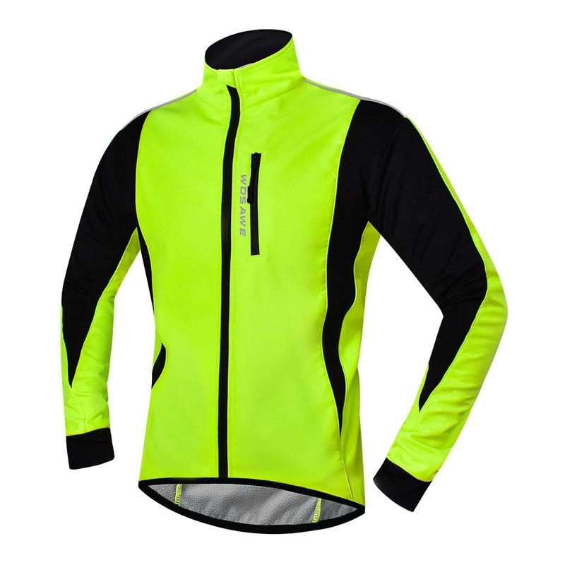 WOSAWE Cycling Jacket Winter Thermal Fleece Warm MTB Road Bike Clothing Windproof Waterproof Long Jersey Windbreaker