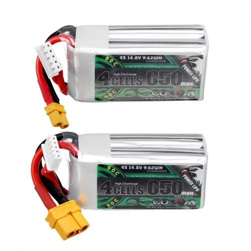 CODDAR 14.8V 650mAh 90C 4S Lipo Battery XT30/XT60 Plug for RC Drone
