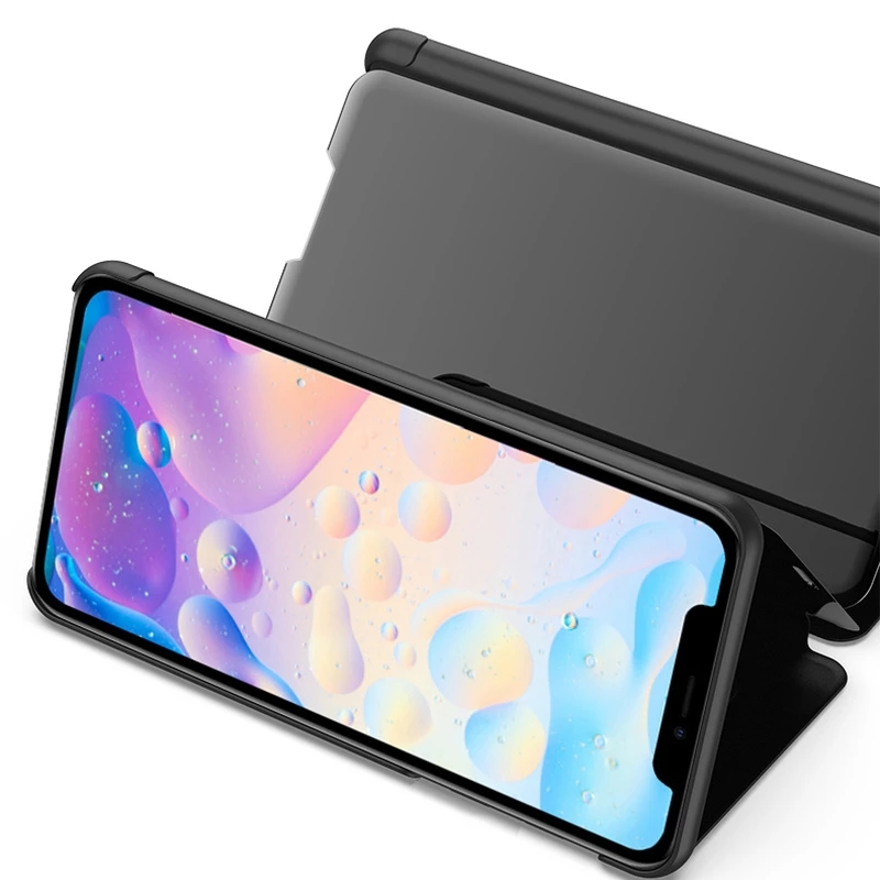 Bakeey for iPhone 12 Pro Max Case Foldable Flip Plating Mirror Window View Shockproof Full Cover Protective Case