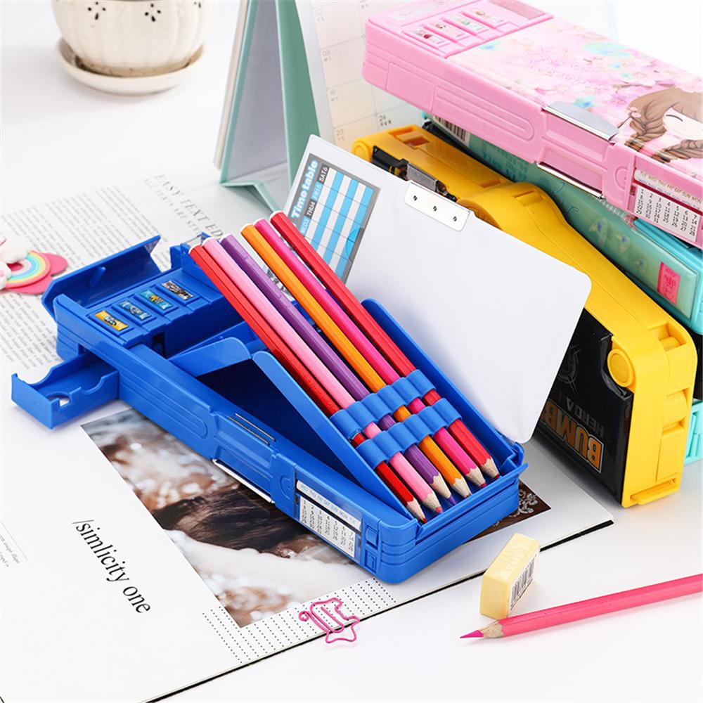 Single Sided Pencil Case Cartoon Pattern Pen Case Holder Multifunction Large Capacity Stationery Office School Storage Bag