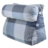 Triangle Back Cushion Bedside Pillow Soft Reading Back Waist Protection Detachable Pillow for Sofa Bed Office Chair Rest