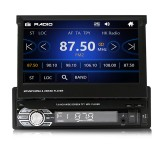 9601G 7 Inch 1DIN Wince Car MP5 Player Retractable Flip Stereo Radio bluetooth GPS USB AUX with Backup Camera