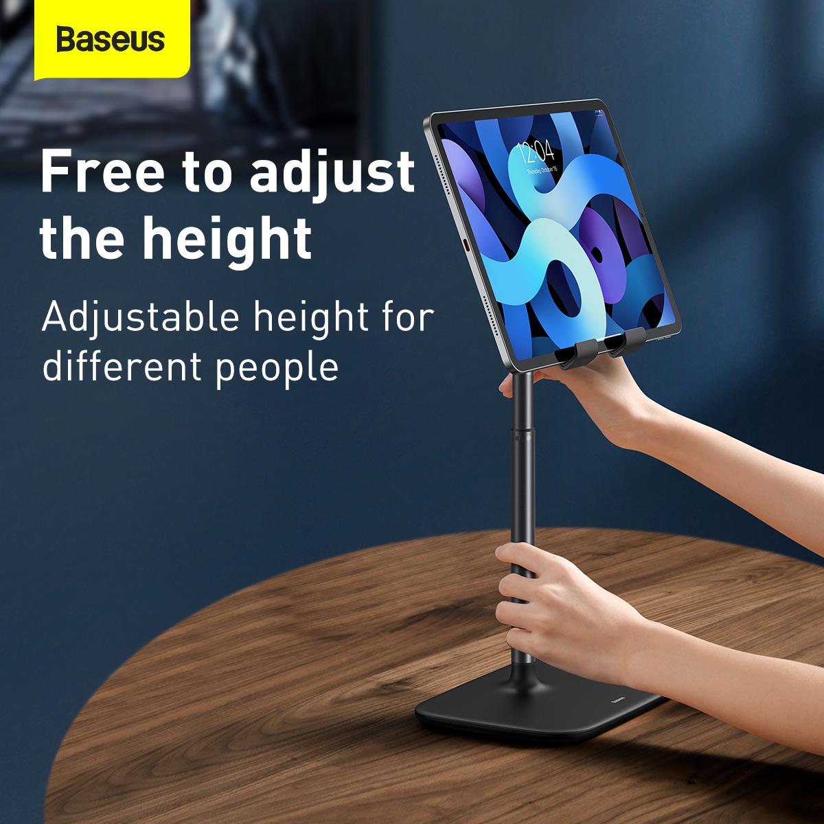 Baseus Universal Telescopic Version Multi-Angle Adjustment Mobile Phone Tablet Desktop Holder Stand for iPhone 12 POCO X3