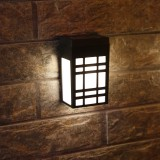 Retro Solar Fence Warm Lights Outdoor Wall Lights Retro Style Lamp Lights Waterproof for Deck Fence Patio Front Door Stair Landscape Yard and Driveway Pathway