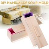 Silicone Soap Mold Tray Handmade DIY Making Crafts Toast Baking Rectangle Tools