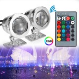 20W RGB LED Light Fountain Pool Pond Spotlight Underwater Waterproof With Remote