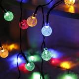 20/50/100 LED 5/7/12m Solar String Light 1.7cm Diameter Ball Shape Waterproof Fairy Outdoor Party Garden Christmas Decorations Clearance Christmas Lights