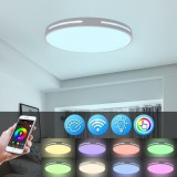 110-260V 15.7in LED Ceiling Light Dimmable Smart WIFI APP Voice Remote Lamp Home Fixture Intelligent Ceiling Lamp Works With Alexa Google Home