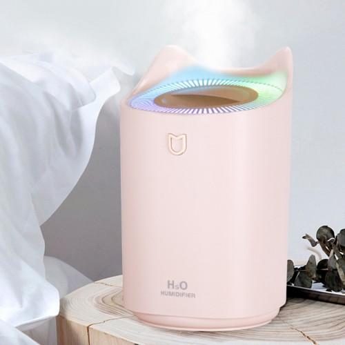 3L Home Air Humidifier Double Nozzle Cool Mist Aroma Diffuser USB Charging with Colorful Light Low Noise