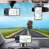 Bakeey Universal Multifunctional 360 Rotation Car GPS Navigation Dashboard Sunvisor Mobile Phone Holder Bracket for Devices between 3-7 inch