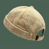 Unisex Cotton Street Trend Fashion Casual British Style Brimless Landlord Hat Beanie Skull Hat