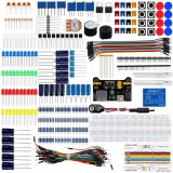 Electronics Basic Component Starter Kit w/Breadboard Jumper Wires Color Led Resistors Capacitor Buzzer For Arduino