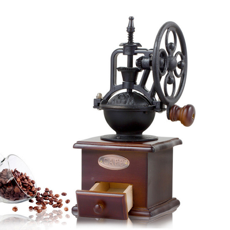 ACL ACL-06 Hand-operated Bean Grinder Saving Labour with Wheel Disc Design for Coffee