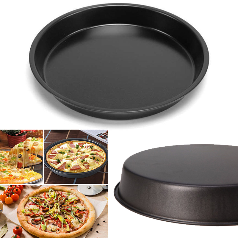 Pizza Tray 6-10'' Large Non Stick Carbon Steel Baking Round Oven Tray Pizza Pan