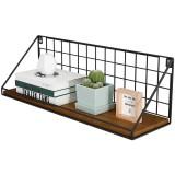 Iron Grid Decor Frame Art Storage Box Basket Wall Display Art Storage Box Basket Mesh Shelf Rack Holder Organizer