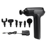 Electric Percussion Massage Gun Deep Tissue Muscle Vibrating Relaxing Massager W/ 6 Heads