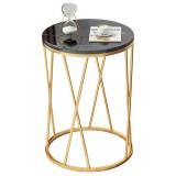 40*40*57cm Small Table Home Living Room Modern Minimalist bedside Table Simple Light Luxury Creative Small Round Table Nordic Balcony Small Coffee Table for Home