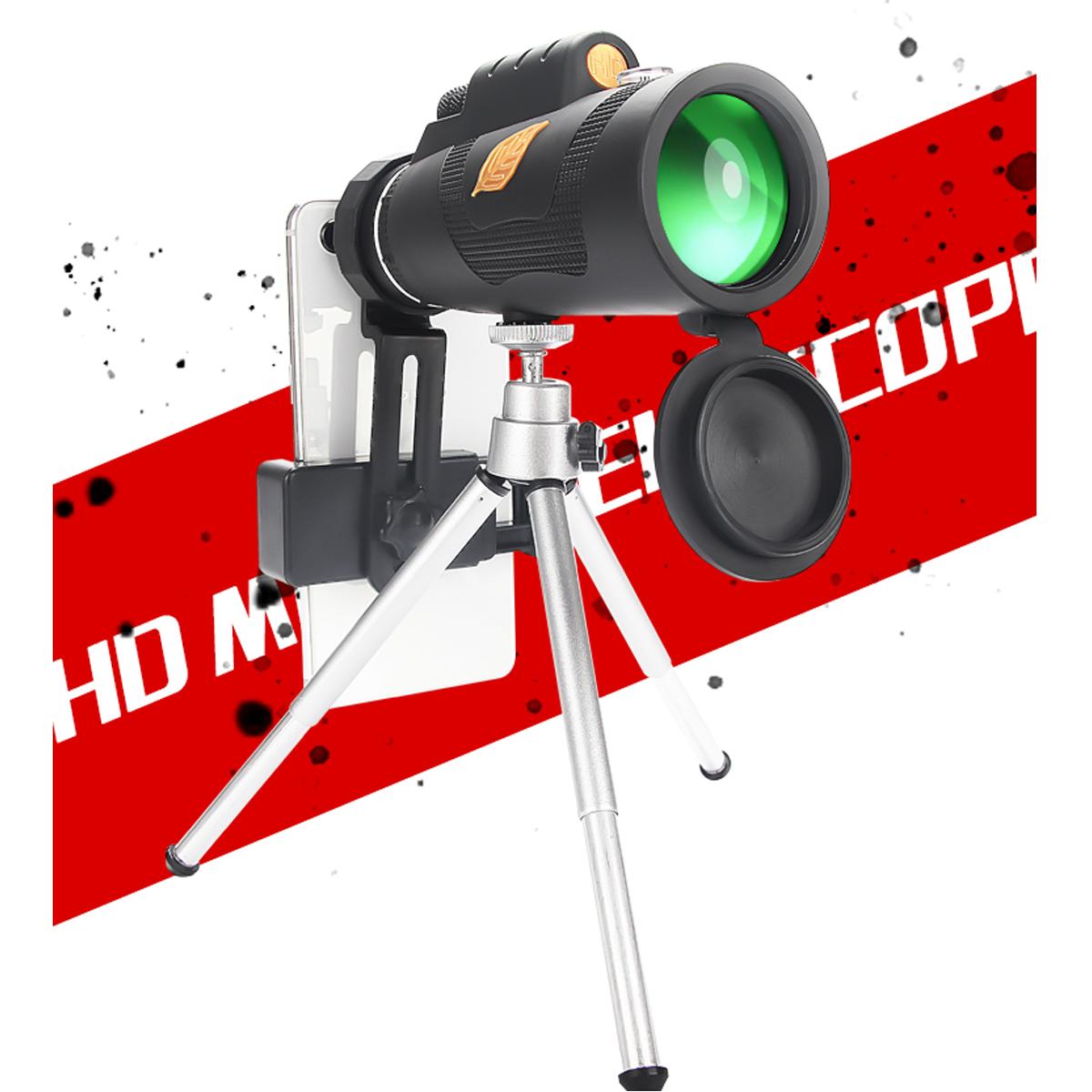12X50 Phone Telescope Portable Outdoors Telescope Phone Lens Light Phone Telescope with Tripods Phone Clip