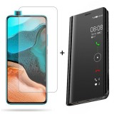 Bakeey Flip Mirror Window Shockproof Full Cover Protective Case + HD Clear 9H Anti-Explosion Tempered Glass Screen Protector for Xiaomi Poco F2 Pro / Xiaomi Redmi K30 Pro