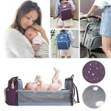 Portable Diaper Bag Folding Baby Travel Large Backapack Outdoor Foldable Baby Bed Mommy Bags
