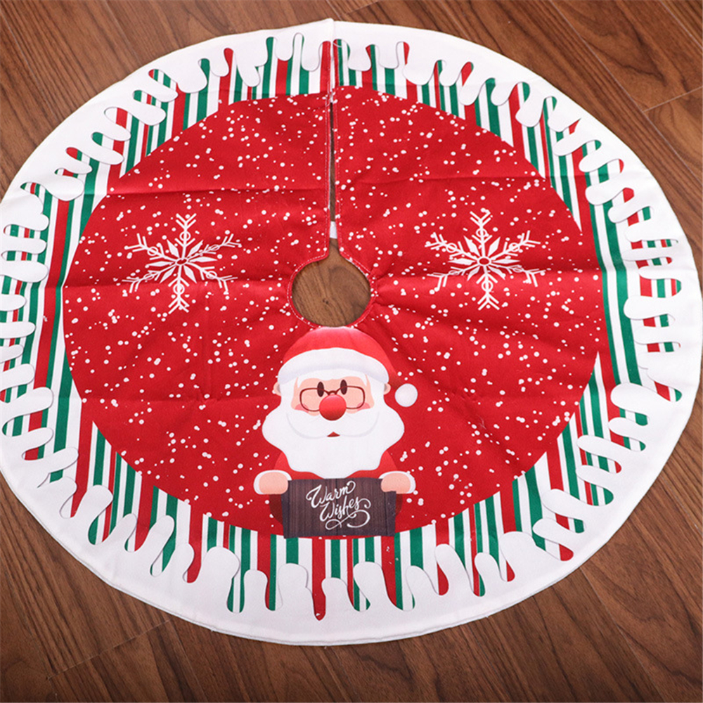 Kaicheng Christmas Handcraft Non-Woven Frabic Cloth Christmas Accessories Snowman Santa Claus Christmas Tree Botoom Decoration