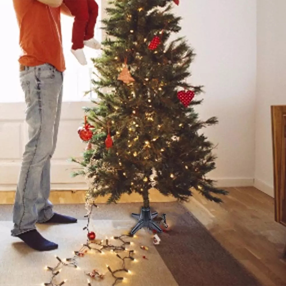 EU Plug 2020 Christmas Tree Stand Holder Electric 360 Rotating Base Christmas Tree Rotating Stand for New Year Christmas Tree Decor