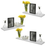 3Pcs/Set DIY Wall Shelf Floating Display Decor Home Wood Wall Mounted Storage Holders Racks Home Storage Organizer