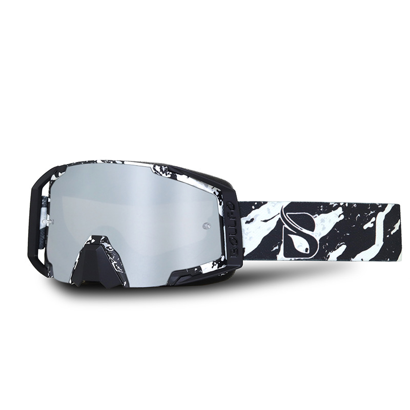 BOLLFO Windproof Skiing Goggles Dust-proof Anti-UV Riding Motorcycle Safety Glasses Outdoor Sport Protective Glasses