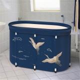 Bath Sauna Adult Folding Bathtub Bath Barrel Household Large Tub Thickened Adult Bath Tub Full Body Hot Tub with Lid Set