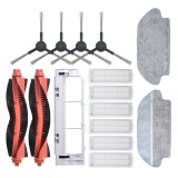 17pcs Replacements for Xiaomi Mijia STYTJ02YM MOP PRO Vacuum Cleaner Parts Accessories Main Brushes*2 Side Brushes*4 HEPA Filters*6 Main Brush Cover*1 Wet Mop Clothes*2 Dry Mop Clothes*2 [Non-OEM]