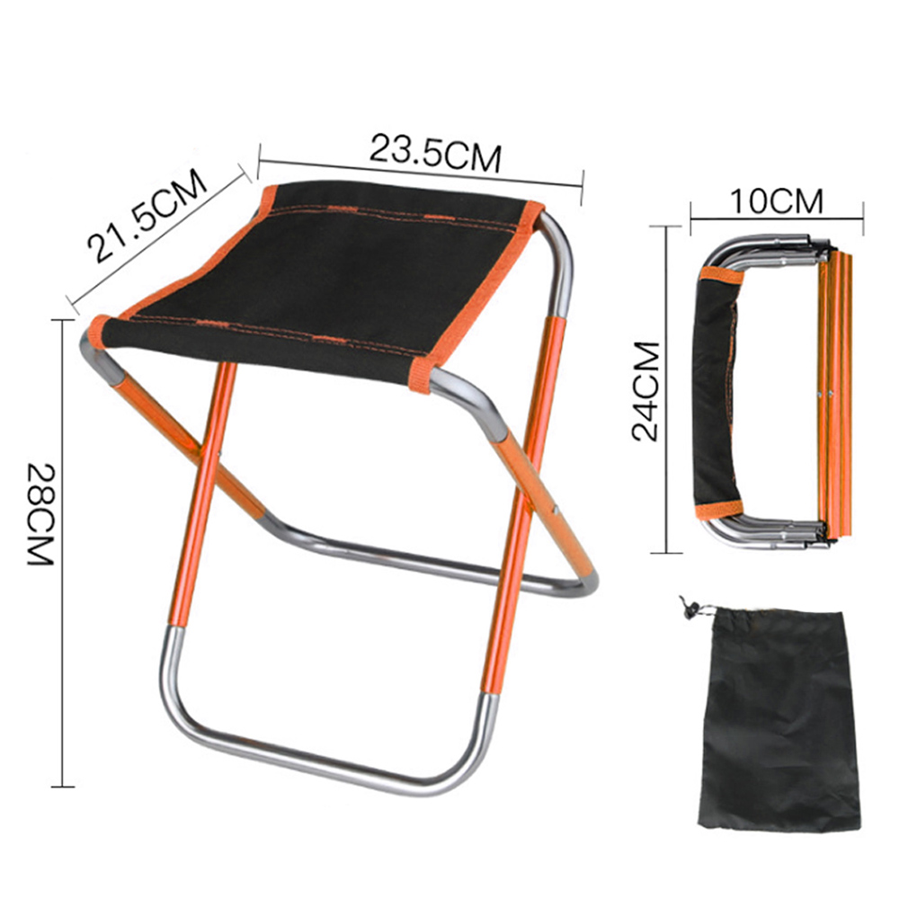 Ultralight Folding Camping Stool Portable Fishing Seat Camping Chairs for Hiking Travel Max Load 200kg