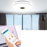 50cm AC85-265V LED RGB Music Ceiling Lamp APP+Remote Control Smart Ceiling Light Works w/ Google Home Alexa