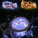 50/100/200LEDs Solar Copper Wire Lamp Fairy String Lights Waterproof Outdoor