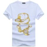 Cartoon Print T-Shirts Men Summer Fashion O-Neck Short Sleeve T-shirt Outdoor Sport Top Tee