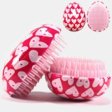 ABS Hair Brush Comb Pink Egg Round Shape Soft Styling Tools Heart Anti-Static Hair Brushes Detangling Comb Salon Hair Care Comb